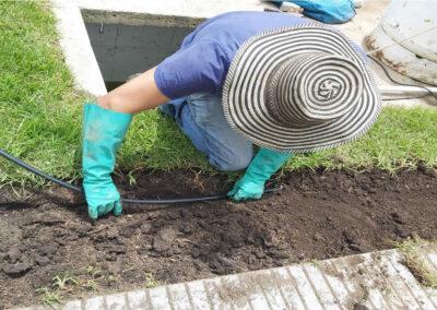 Instalación de riego en jardines